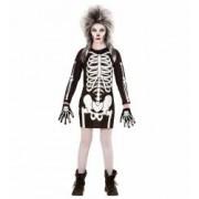 Costum Schelet Rochie Halloween Widmann 5 - 7 ani 128 cm
