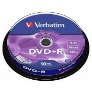 DVD+R 16X 4.7GB SP 10 bucati Verbatim