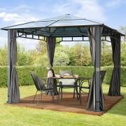 taltpartner.se Trädgårdspaviljonger 3x3m Polykarbonatplattor 8 mm loft grey vattentät