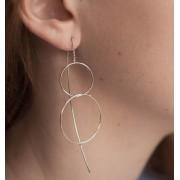 Elise et moi Durchzieher-Ohrringe mit verschlungenen Ringen