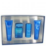 Perry Ellis Aqua EDT Spray 3.4oz/100mL + Deodorant 2.75oz/81mL + After Shave Gel 3oz/88mL + Shower Gel 3oz/88mL 501143