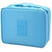House of kart Cosmetic Makeup Case Wash Organizer Storage Pouch Travel Toiletry Kit(Blue)