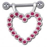 Helix Heart Diamond - Pink (piercing)