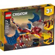 Lego set de construcción lego creator dragón escupe fuego 31102