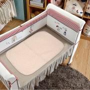 EH Cambio De Pañal Del Bebé Recién Nacido Cómoda Almohadilla Transpirable De Algodón Elástico De Orina - Blanco Marron