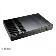 Carcasa AKASA A-ITX23-M1B Galileo T Slim fanless Thin mini ITX Aluminiu Fara Sursa Negru