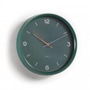 Kave Home Reloj de pared Diya verde