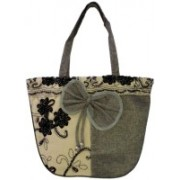 Dazzle Whitegrey jute Grey Shoulder Bag