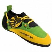 La Sportiva - Kids Stickit - Chaussons d'escalade taille 32/33, orange/noir/vert