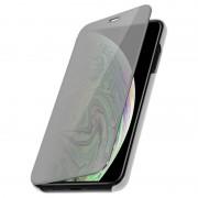Avizar Funda Libro Translúcida Plata para iPhone XS Max
