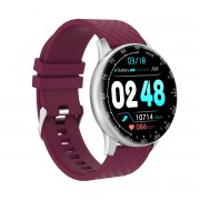 H3 1.28-Inch Touch Screen Heart Rate Blood Pressure Health Monitoring Sports Smart Bracelet - Purple