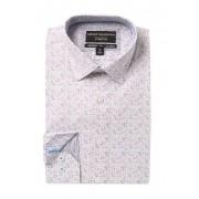Report Collection Slim Fit Floral Print Dress Shirt 55 VIOLET