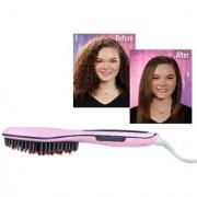 SPERO High Quality Ceramic Electric Hair Brush Hair Straightener Straightening Flat Iron Comb Digital Control Heating Br