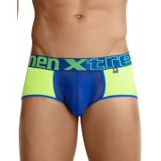 Xtremen Contrast Mini Short Boxer Brief Underwear Green/Blue 91035