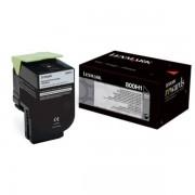 Lexmark Originale CX 410 dte Toner (800H1 / 80C0H10) nero, 4,000 pagine, 3.56 cent per pagina