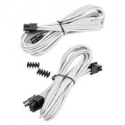 Set 2 cabluri modulare Corsair 8-pini (6+2) PCIe Type 4 Gen 3, cleme incluse, White, CP-8920175