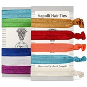 Vapolli Hair Ties Hair-style Elastic Bands Best Ponytail Holders Guarantee Tug-free Release -No Crease Pulling or Breakage - Flexible Professional Grip on Hairs Without Damaging It -Hand Washable & Reusable Multipurpose Wrist Fashion Accessory (Variat