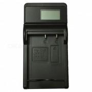 Cargador de bateria ismartdigi CNP130 LCD USB camara para casio CNP130 NP130 NP-130-negro