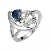 Silvego Stříbrný prsten s přírodním Safírem DESIRÉ - FNJR0673