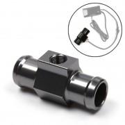 Motorfiets Modificatie Onderdelen Universal CNC Aluminium Water Temperatuur Meter Sensor Joint Transfer Interface Grootte: 22mm (Zilvergrijs)