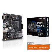 Asus Prime B450M-K moederbord socket AM4 (mATX, AMD AM4, DDR4-geheugen, Natives M.2, USB 3.1 Gen 2)