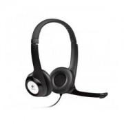 Logitech Słuchawki z mikrofonem Logitech H390 USB czarne