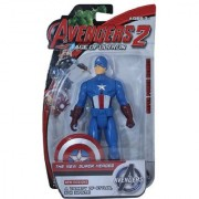 Shribossji Avengers Captain America Action Figure With Weapons And Led Lights For Kids