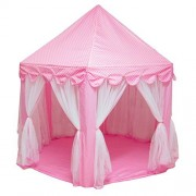 """Princess Castle Play Tent Fairy Princess Game Playhouse Indoor Outdoor Play Tent Play Room House Foldable Toys House for Toddlers Girls Kids Birthday Christmas Holiday Gift Large 55"""" x 53"""""""