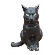 Sitting Black Cat Foam Prop