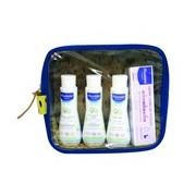 Bolsa de viagem com os indispensáveis em azul - Mustela