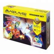 Set de constructie magnetic 83 piese Magplayer