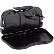 Indianmarina Car Travel Dining Tray Meal Tray Food Cup Holder(Black)