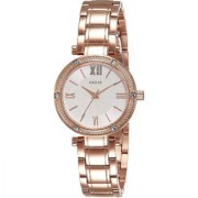 GUESS Rose Gold Stainless Steel Round Dial Analog Watch For Women (W0767L3)