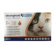 Stronghold Plus 30 mg/5 mg spot-on solution for Medium Cats >2.55 kg (5.5-11 lbs) 3 pack