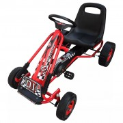 vidaXL Children Pedal Go Kart Red