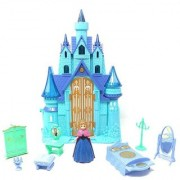 Emob Beautiful Battery Operated Princess Dream Castle Toy with Light and Music (Blue)