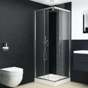 vidaXL Cabină de duș cu cadă, 80 x 80 x 185 cm, sticlă securizată
