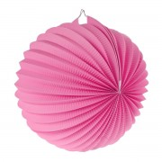 Lampion decorativ roz 25 cm