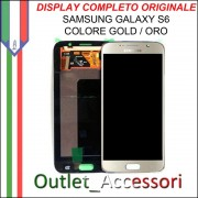Display LCD Touch Samsung Galaxy S6 Originale SM-G920 G920F GOLD ORO Schermo Completo GH97-17260A