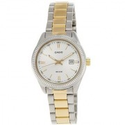 Casio Quartz Silver Round Women Watch LTP-1302SG-7AVDF(A478)
