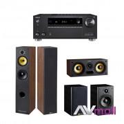 Pachet Receiver AV Onkyo TX-RZ720 + Boxe Davis Acoustics Maya + Boxa Davis Acoustics Central Sacha + Boxe Davis Acoustics Maya Rear