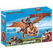 Dragons - Fishlegs Si Meatlug Playmobil