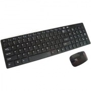 2.4ghz Ultrathin Wireless Keyboard and Mouse Combo Black