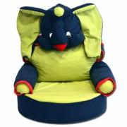 Fotelja za decu Slonče - Plavo/Zelena