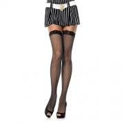 LEG AVENUE Calze a rete plus size hosiery fishnet stockings black