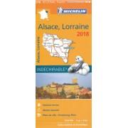 Wegenkaart - landkaart 516 Alsace - Lorraine, Elzas Lotharingen 2018 | Michelin