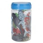 Merkloos Speelgoed set zeedieren in emmer