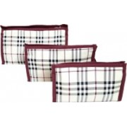 FORE TREND Multi-Purpose Travel Kits & Organizers or Toiletry Kits Set of 3 PCS(Maroon)