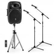 """Auna Streetstar 15 equipo de sonido PA transportable 15""""PA Speakerstand soporte de micrófono (PL-31568-11597-3858)"""