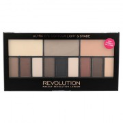 Makeup Revolution London Ultra Eye Contour Light & Shade paleta sjenila za oči 14 g